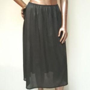 NWOT Adonna Black Tall  1/2 Slip Petticoat